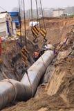 Canteiro de obras da tubulação de gás Fotografia de Stock Royalty Free
