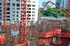 Canteiro de obras do negócio da construção da maquinaria Foto de Stock Royalty Free