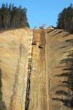 Canteiro de obras do oleoduto foto de stock royalty free