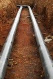 Canteiro de obras do oleoduto imagem de stock royalty free