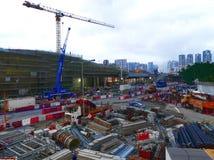Canteiro de obras do trilho expresso em Hong Kong imagem de stock royalty free
