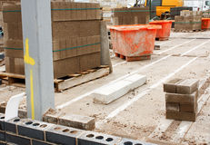 Canteiro de obras dos construtores Imagem de Stock Royalty Free