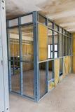 Canteiro de obras - Drywall Fotografia de Stock