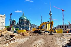 Canteiro de obras em Berlim, Alemanha Imagens de Stock