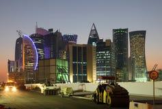 Canteiro de obras em Doha Fotos de Stock
