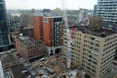 Canteiro de obras em Toronto, Canadá Fotografia de Stock Royalty Free