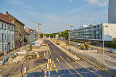 Canteiro de obras Karlsruhe Fotografia de Stock