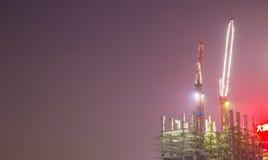 Canteiro de obras na noite Imagem de Stock