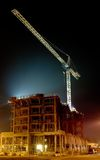 Canteiro de obras na noite Foto de Stock Royalty Free