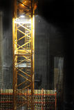 Canteiro de obras na noite Fotografia de Stock