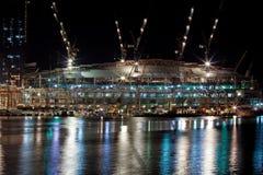 Canteiro de obras no porto Imagens de Stock Royalty Free