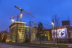 Canteiro de obras no Reeperbahn Fotografia de Stock