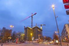 Canteiro de obras no Reeperbahn em Hamburgo Imagem de Stock