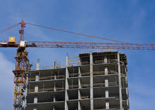 Canteiro de obras novo do edifício Foto de Stock Royalty Free