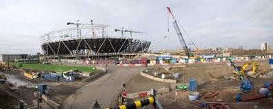 Canteiro de obras olímpico de Londres panorâmico foto de stock