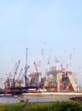 Canteiro de obras a pouca distância do mar Fotografia de Stock Royalty Free