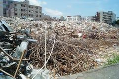 Canteiro de obras, reabilitação urbana, em Shenzhen, China foto de stock royalty free