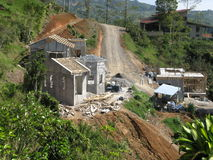 Canteiro de obras tropical da HOME do sonho do hillltop. Foto de Stock