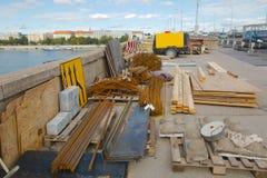 Canteiro de obras urbano imagem de stock