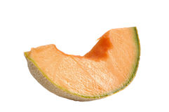 Cantelope slice on white Royalty Free Stock Photography