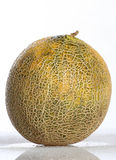 Canteloupe. (also canteloup) refers to two varieties of muskmelon (Cucumis melo) [1], which is a species in the family Cucurbitaceae (a family which includes Stock Image
