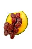 canteloupe et raisins Photo libre de droits