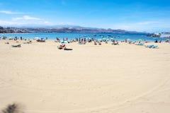 Пляж Canteras, Las Palmas de Gran Canaria, Испания Стоковая Фотография