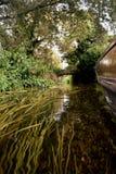 Canterbury żeglowania kanał, beetwen budynki Zdjęcia Royalty Free