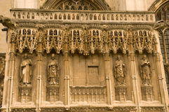 Canterbury carvings Stock Photo