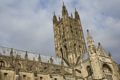 Canterbury Cathedra. The Cathedral of Canterbury in a cloudy day Stock Photos
