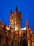 Canterbury Cathedral. View of Canterbury Cathedral at night stock image