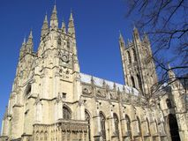 Canterbury Cathedral. In Canterbury Kent was founded by St Augustine in AD602 and is the cathedral of the Archbishop of Canterbury, the head of the Church Of Royalty Free Stock Photography