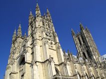Canterbury Cathedral. In Canterbury Kent was founded by St Augustine in AD602 and is the cathedral of the Archbishop of Canterbury, the head of the Church Of Royalty Free Stock Image