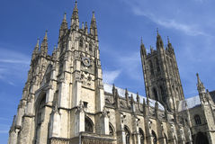 Canterbury Cathedral. The majestic Canterbury Cathedral in Canterbury England.  This beautiful cathedral is the seat of the Anglican Church Royalty Free Stock Image