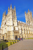 Canterbury Cathedral in Canterbury in Kent of England Stock Images