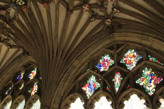 Canterbury Cathedral cloister details Royalty Free Stock Images