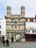 Canterbury Cathedral entrance Stock Photos