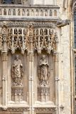 Canterbury Cathedral  facade detail with archbishop statues Cant. Archbishop statues at Southwest Porch of Canterbury Cathedral, one of the oldest and most Royalty Free Stock Photos