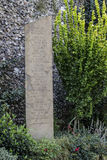 Canterbury Cathedral Garden Monument. Monument in the Canterbury Cathedral Garden in the region of Kent England Stock Image