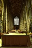 Canterbury Cathedral. Interior of Canterbury Cathedral with arces Royalty Free Stock Image