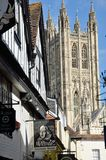Canterbury Cathedral seen from side street Stock Photography