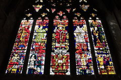 Canterbury Cathedral stained glass window Royalty Free Stock Photos