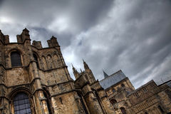 Canterbury cathedral in stormy weather Stock Image