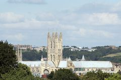 Canterbury cathedral and surroundings. The world-famous place of worship in the heart of Kent Stock Photo