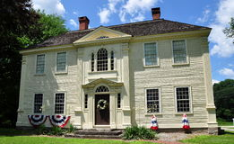 Canterbury, Connecticut: Roztropności Crandall dom Obrazy Royalty Free