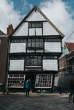 Classic and cute traditional building in the village of Canterbury, England royalty free stock image
