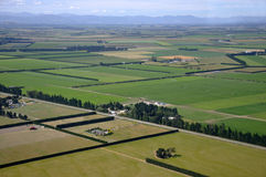 Canterbury farmland. Aerial of tidy Canterbury farms, South Island, New Zealand Royalty Free Stock Photography
