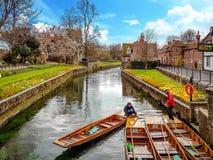 Canterbury-Fluss-Boote, Kent, Vereinigtes Königreich lizenzfreies stockfoto