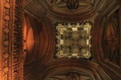 Canterbury Katedralny sufit Kent Zjednoczone Królestwo obraz stock