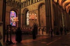 Canterbury Katedralny wewnętrzny Anglia obrazy stock